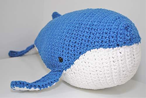 Baleine peluche 43cm crocheté main Amigurumi Marshmallow Toys