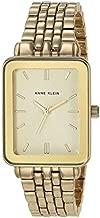 Anne Klein Women's Gold-Tone Bracelet Watch with Rectangular Case, AK/3614