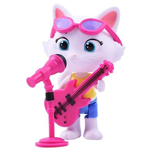 Smoby 180111 Spielfigur Milady mit Bass-Gitarre, Figur aus der 44 Cats Serie, für Kinder ab 3 Jahren, Mehrfarbig
