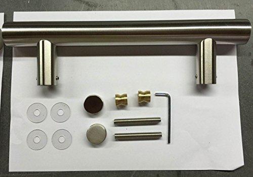 Edelstahl Stangengriff für Haustüren 90° Anschluss 300/200mm - 500/350mm - 800/600mm - 1200/900mm (300x200mm)