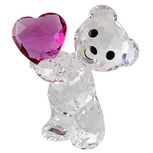 Swarovski Kris Orso - Nimm Mein Herz Figurine, Cristallo, Multicolore, Chiaro, 4,2 x 3,4 x 2,4 cm