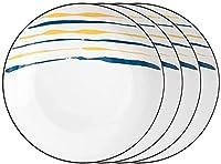 GDLQ プレートセラミックディナープレート6,8インチ皿セットパスタステーキ前菜プレート用ラウンドサービングプレート電子レンジオーブンと食器洗い機のセーフディナープレート (色 : 4pack, サイズ : 7INCH)