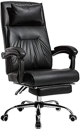 JYHZ Silla de Oficina de Oficina, Silla de Jefe, Silla ergonómica, sillón reclinable, Silla de Juego, Silla de Giro para el hogar (Size : Grey)