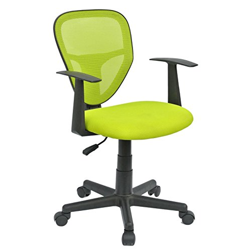 CARO-Möbel Schreibtischstuhl Kinderdrehstuhl Bürostuhl Drehstuhl Studio in grün mit Armlehnen, höhenverstellbar