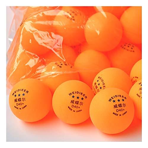 KMDSM Ping-Pong, 3 Estrellas Nuevo Material 40+ Bola de Formación Profesional con el balón de Tenis de Mesa, 20 / Caja, 30 / Caja, 50 / Caja / 100 / Caja, Blanco, Amarillo