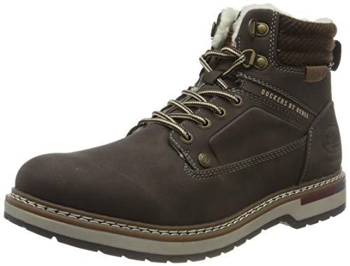 Dockers by Gerli Herren Classic Boot Atlanta Warm Mode-Stiefel, Dunkelbraun, 43 EU