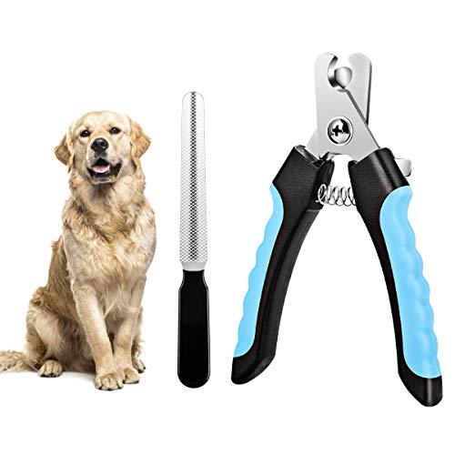 Krallenschere und Krallenfeile für Haustiere, Hunde Krallenschneider Katzen Krallenzange mit Safety Guard