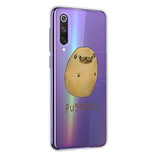 Oihxse Transparente Funda para Xiaomi Redmi Note 4X/Note 4 Ultrafina Silicona Suave TPU Carcasa Interesante Perro Patrón Flexible Protectora Estuche Antigolpes Anti-Choque (A10)