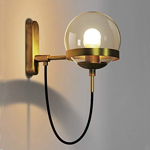VOAOV Lámpara de Pared de Metal Redonda Antigua E27, Apliques Pantalla de...
