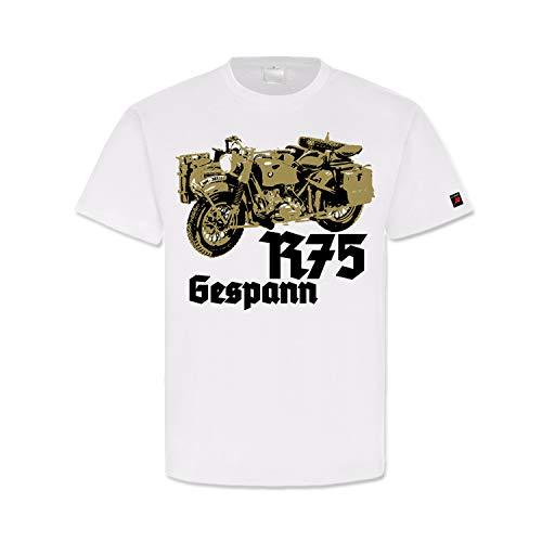 R75gespann WH DAK Moto Rueda Tropen Oldtimer WH sidecar plegable pesado terreno...