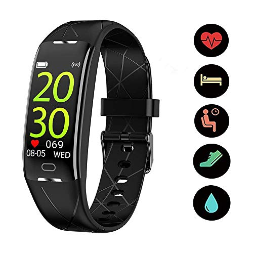 BIGFOX Cardiofrequenzimetro da Polso,Fitness Tracker,Orologio Fitness Uomo,Orologio Fitness Donna,Impermeabile IP67 Cardiofrequenzimetro