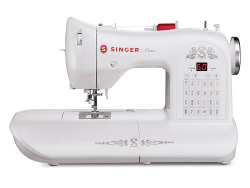 SINGER | ONE Vintage-Style Computerized Sewing Machine with 24 Built-In Stitches, Built-In Needle Threader, & Sew Bobbin System - Sewing Made Easy