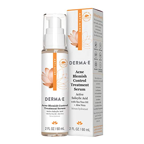 DERMA E Acne Blemish Control Treatment Serum - Highly effective moisturizing acne treatment for face - Helps to fight against blemishes, blackheads, breakouts and cystic acne - Rebalances skin