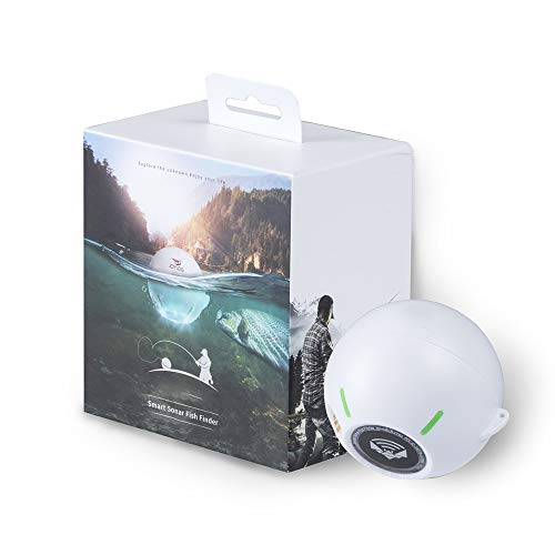 ZHJC Buscador de Peces portátil Inteligente portátil Pescado Sonar Sonar Buscador de Bluetooth Wireless para la Pesca de Carpa Costera (Color : Blanco, Size : One Size)