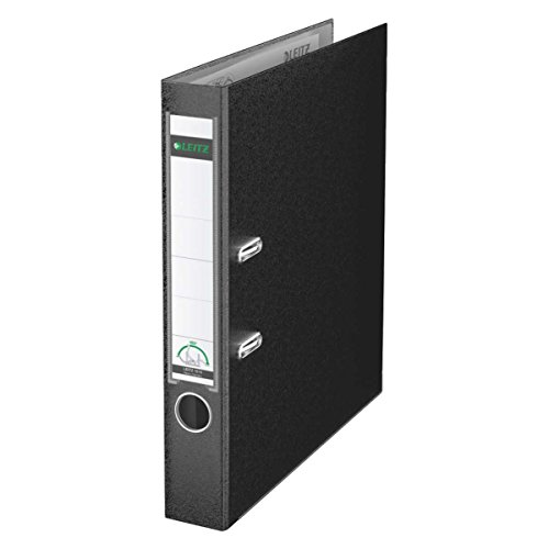 Leitz 10155095 Qualitäts-Ordner Plastik-Cover (A4, 5,2 cm Rückenbreite) schwarz