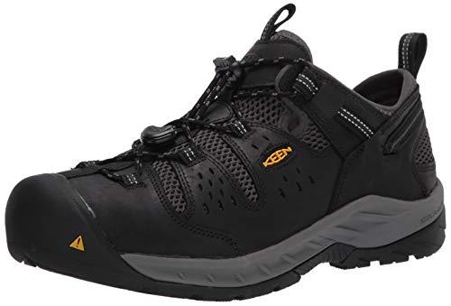 KEEN Utility Men's Atlanta Cool 2 Low Steel Toe Work Shoe, Black/Dark...
