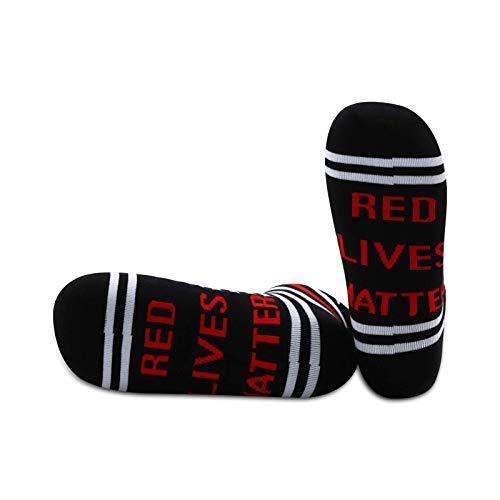 JXGZSO 1 par de calcetines de bombero, color rojo y rojo