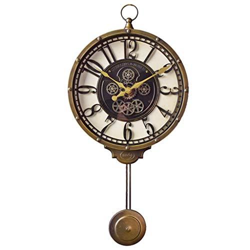 Yxx max Wall Clock Wall Clocks Battery Operated Non Ticking Pendulum Decorative Living Room Decor Silent Bedroom Kitchen Vintage American Retro Quartz Household Clocks