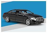合金ダイキャストカー 1:24メルセデスベンツ用Sクラスシミュレーション用合金車モデルギフトを集めるおもちゃ鋳造車モデルダイキャスト車両 ミニカーダイ (Color : 黒)