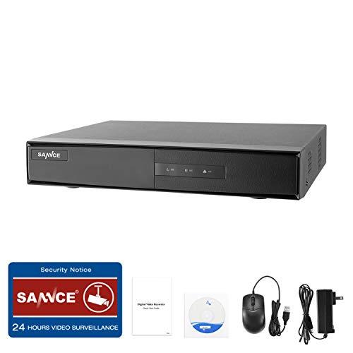 SANNCE 8CH 1080p HD DVR Kabelgebundenes Überwachungssystem DVR Digitaler Videorecorder, eigenständige Überwachung CCTV Unterstützt 5-in-1-CVBS/AHD/TVI/CVI/IP