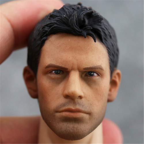 "HiPlay 1/6 Scale Male Figure Head Sculpt Series, Handsome Men Tough Guy , Doll Head for 12"" Action Figure Phicen, TBLeague, HT (HP04)"
