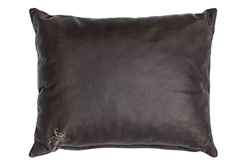 Centaur - Cuscino decorativo in pelle 50 x 40cm per divano o camera da letto cioccolato - Cuscino in vera pelle Cuscino look divano in pelle