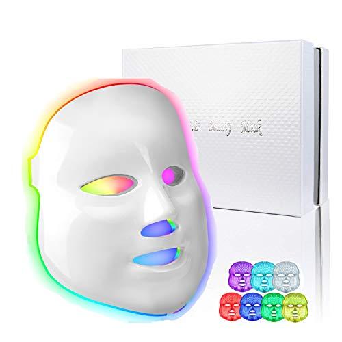 7 Couleur LED Photon Facial Rides Acné Retrait...