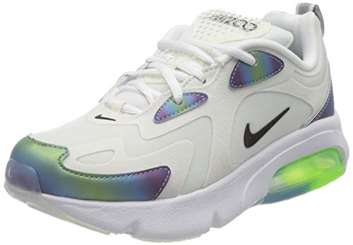 Nike Air Max 200 20 (GS), Scarpe da Corsa Bambino, Summit White/Black-Platinum Tint-White, 36 EU
