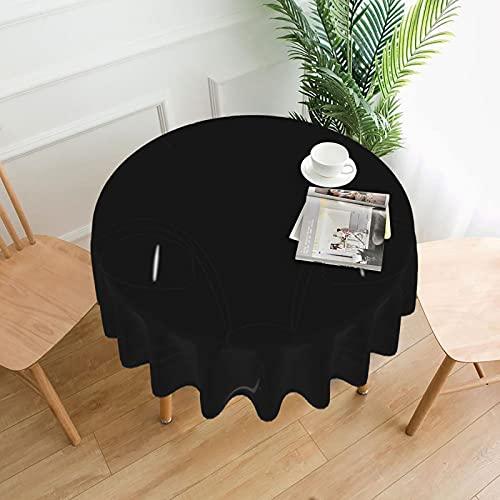 Manteles redondos de bigotes de gato para decoración de mesa circular del hogar para exteriores e interiores, cocina, comedor, fiesta, vacaciones de 60 pulgadas