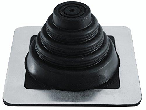 Rohrmanschette, Dachdurchführung, Kabel- Rohrdurchführung, EPDM 3 bis 724 mm Blechpfannen, Trapezblech, Doppelstehfalz (EPDM quadratisch, 6 mm - 70 mm)