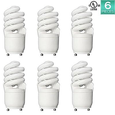 Luxrite LR22305 CF13 13-Watt CFL T2 Spiral Bulb, Equivalent To 60W Incandescent, Daylight 6500K, 900 Lumens, GU24 Bi-Pin Base