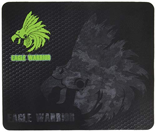 Eagle Warrior ACMOUSEPAD001EGW Ratón Pad para Gamer, Caucho, Diseño de, 320 x 260 x 3 mm, Color Negro
