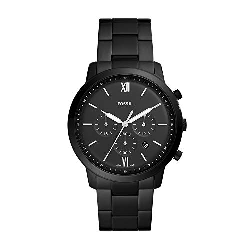 Fossil Men's Neutra Chrono Quartz Stainless-Steel-Plated Strap, Black, 20 Casual Watch (Model: FS5474)