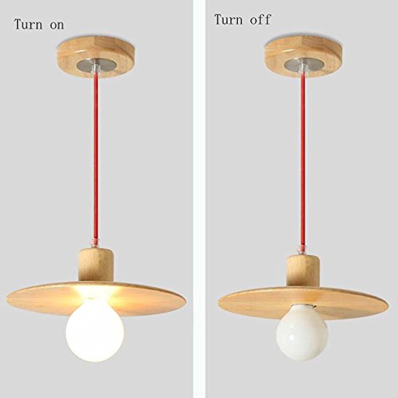 Ein Satz Kronleuchter - Einfache LED-rundes Holz Kronleuchter Restaurant Bar Schlafzimmer Wohnzimmer Kronleuchter (Nicht die Lichtquelle einschlieen) (gre   S)