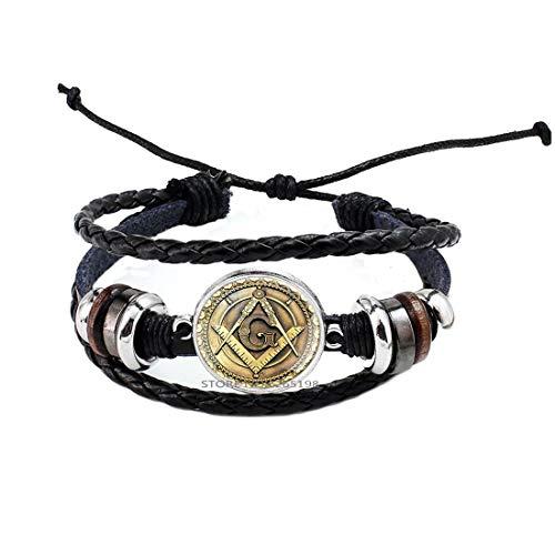 Freemasonry Masonic Bracelet,Masonic Faith Hope Bangle,Freemason Bracelet,Art Glass Dome Bangle,Bridesmaid Gift,N014