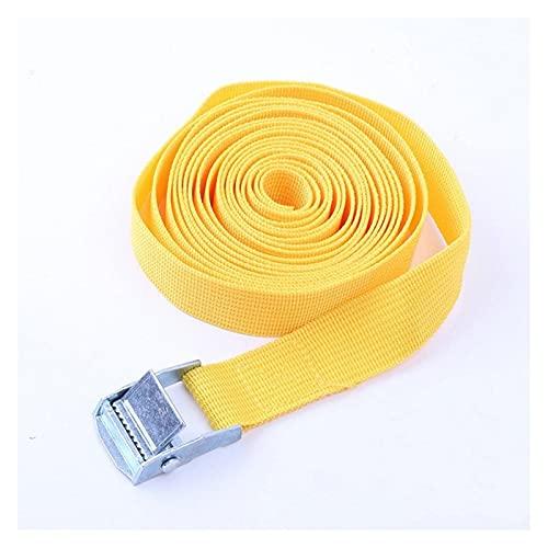 HMBJFBD Fibbia Cintura da Cinghie per Cinghie per Auto per Auto Bici da Moto con Fibbia in Metallo Corda di rimorchio Forte Cintura a cricchetto per Bagaglio (Color : Yellow)
