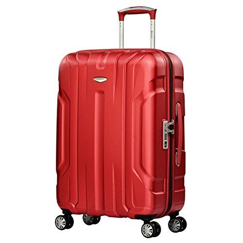 Eminent Koffer X-TEC M 66 cm 70 L super leicht Anti-Kratz-Hartschale 4 Doppelrollen 360° TSA-Schloss Hartschalenkoffer Rot