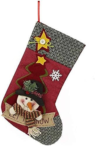 Adorno De Navidad Dibujos Animados Navidad Dulces Bolsas De Regalo Decorativos Accesorios Lindos Tuba Santa Snowman Sock Regalo Decoración De La Medalla De Navidad para La Decoración De La Oficina en