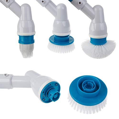 S-TROUBLE Turbo Scrub Ajustable Carga Impermeable Cepillo de Limpieza eléctrico Inalámbrico Aclarar Baño Cocina Hogar Herramientas