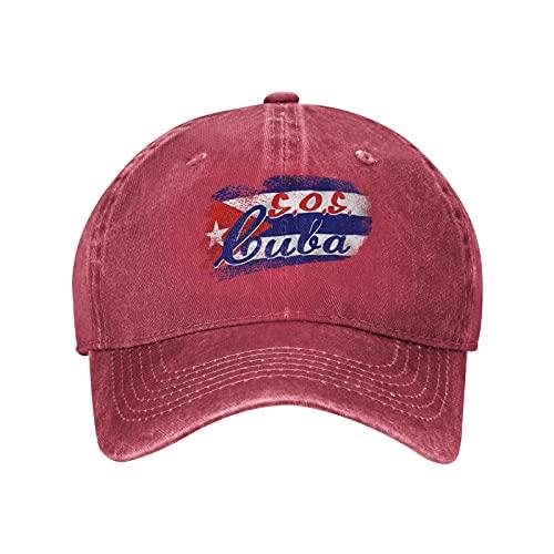 Patria Y Vida S.O.S. Cuba 01 Baseball Caps Vintage Washed Denim Dad Hat Adjustable Trucker Hat