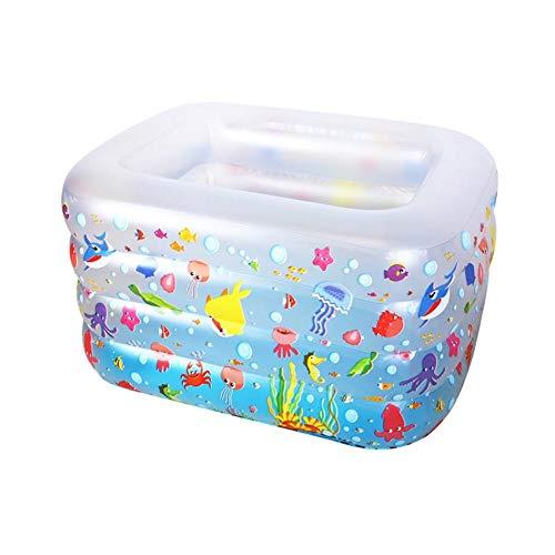 Relaxbx Transparant Baby Zwembad Opvouwbare Opblaasbare Zwembad Familie Thuis Isolatie Dikke Baby Zwememmer (Maat: S)