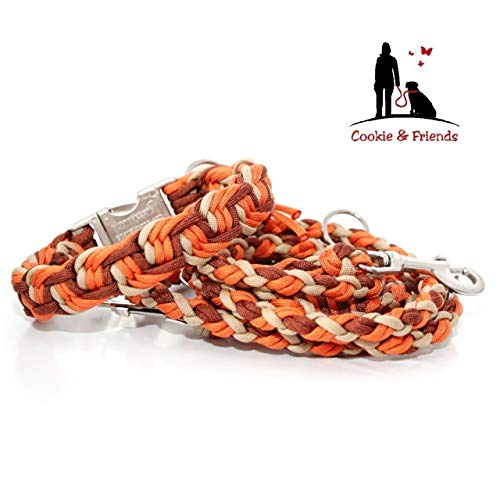 Hundehalsband, Paracord Halsband mit passender Leine, Hundeleine, Halsband+ Leine,Paracord Leine