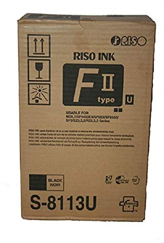 Price comparison product image RISO Risograph S-4254 Black Ink (2 Ctgs / Ctn)