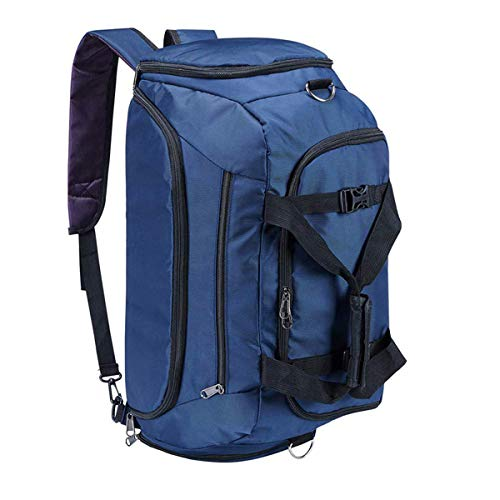 Travel Duffle Bags for Men/Women, Eaglean 3-Way Travel Backpack Luggage Gym Bag for Man Sports Bag Travel Weekender Bag Waterproof Duffle Bags Waterproof Duffel Bag with Shoes Compartment 40L Black