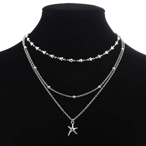 2020 Nuevo Collar De Cuentas De Moda Collar Multicapa Colgante De Estrella Collar Bohemio
