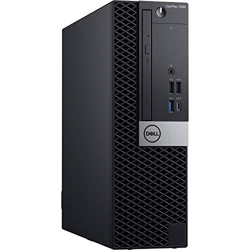 Dell OptiPlex 7060 SFF Desktop Computer Intel Core i7-8700 3.2GHz (Up to 4.60GHz) 6-Core CPU, 16GB DDR4-2666MHz Memory, 1TB NVMe SSD, Windows 10 Pro