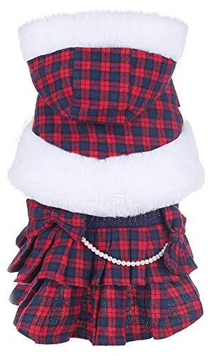 MaruPet(マルペット)ペット服 ドレス ワンピース ワンちゃん 可愛いロリータ風チュチュスカート レース 小型犬 中型犬 お姫様 洋服 ドッグウェア 冬 防寒服 お出掛け XL