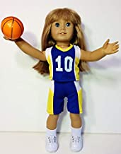 The Wishlist Store Basketball Outfit Uniform Fits American Girl Doll, 18 Inch Doll Clothes Plus Sneakers, Socks, Basketball !!