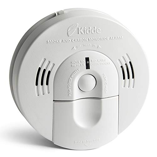 Kidde Smoke and Carbon Monoxide Detector Alarm with Voice Warning | Hardwired w/Battery Backup | Interconnectable | Model # KN-COSM-IBA