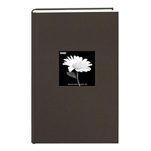 Álbum de fotos Pioneer Photo Albums com capa de tecido com moldura, 300 bolsos, comporta fotos de 10 x 15 cm, Warm Mocha